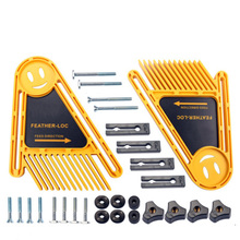 Multi purpose Feather Loc board set Double Featherboards Miter Gauge Slot woodworking engraving tools for Circular Saw Cuts