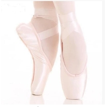 Free Shipping Girls Satin Professional Toe Ballet Pointe Dance Shoes With Ribbons