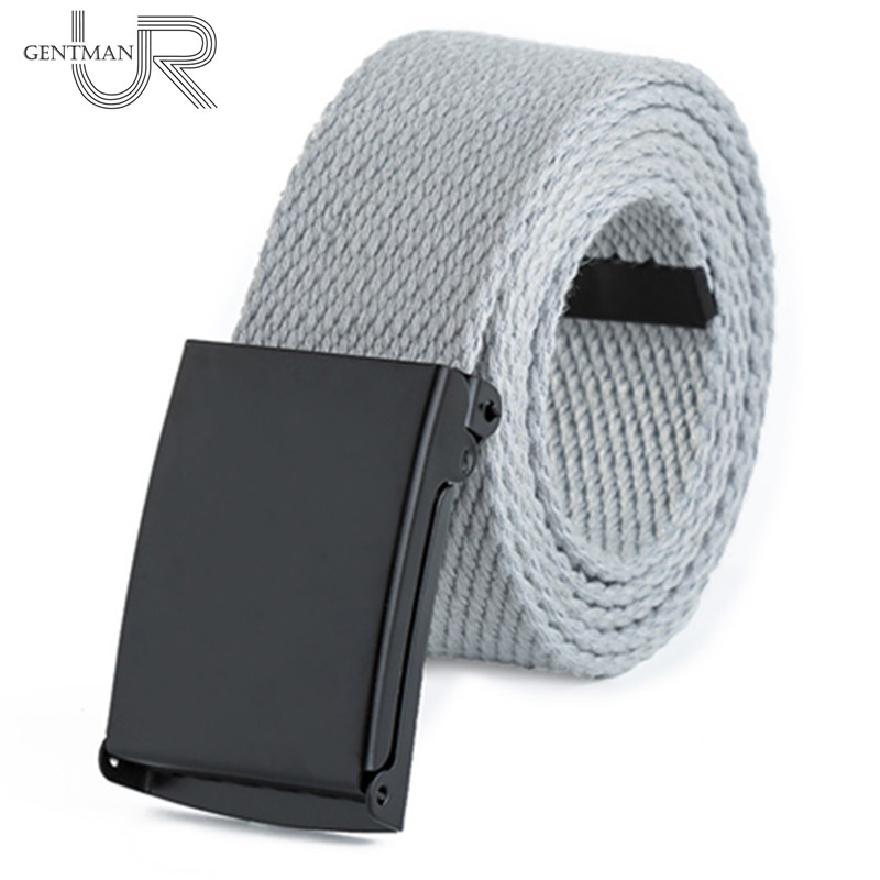 Unisex Waist Belt Men Women Solid Color Canvas Strap High Quality Twill Cotton Jeans Belts