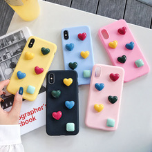 Simple Candy Heart Case For Huawei P8 P9