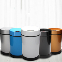 New Fashion 6L Inductive Type Trash Can Smart Sensor Automatic Kitchen and Toilet Rubbish Bin Stainless Steel Waste Bin