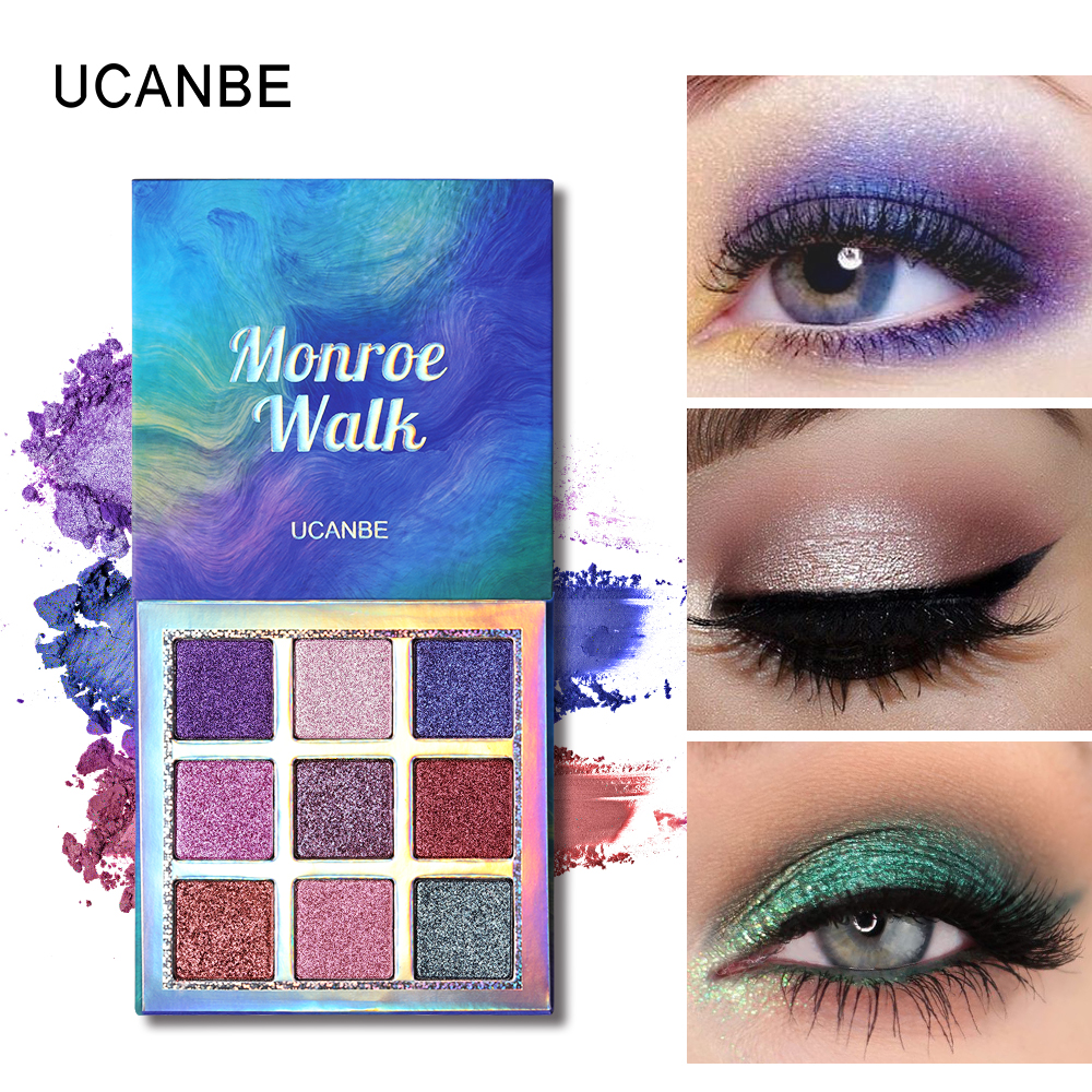 UCANBE Duo-Chrome Glitter Eyeshadow Shimmer Matte Holographic Powder Eye Shadow Makeup Palette Waterproof Pigmented Nude Make Up все цены