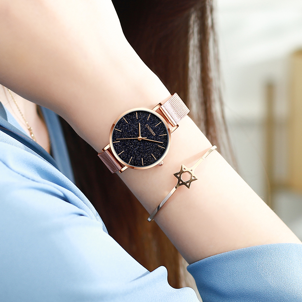 CADISEN Luxury Women Watches Ladies Starry Sky Clock Fashion Female Quartz Watch Wristwatches relogio feminino zegarek damski