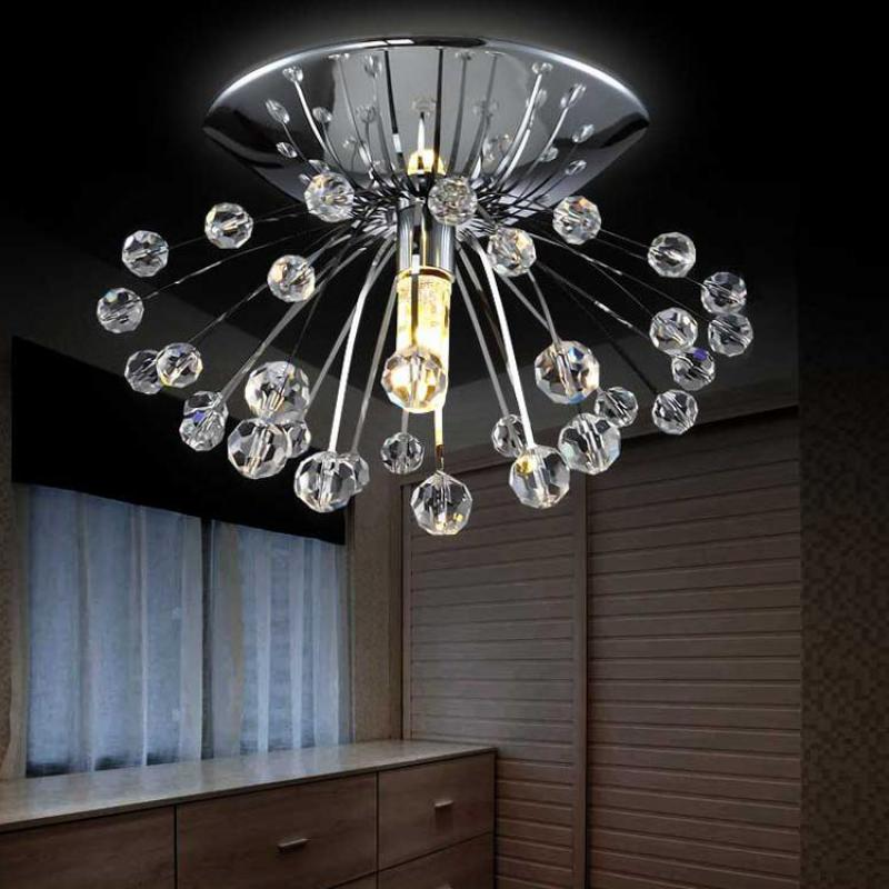 Mini Modern Crystal Chandelier Light Fixture Dia10*H7cm Mini Lustre Cristal Led Lamp For Home Kids Room Led Ceiling Chandelier цена