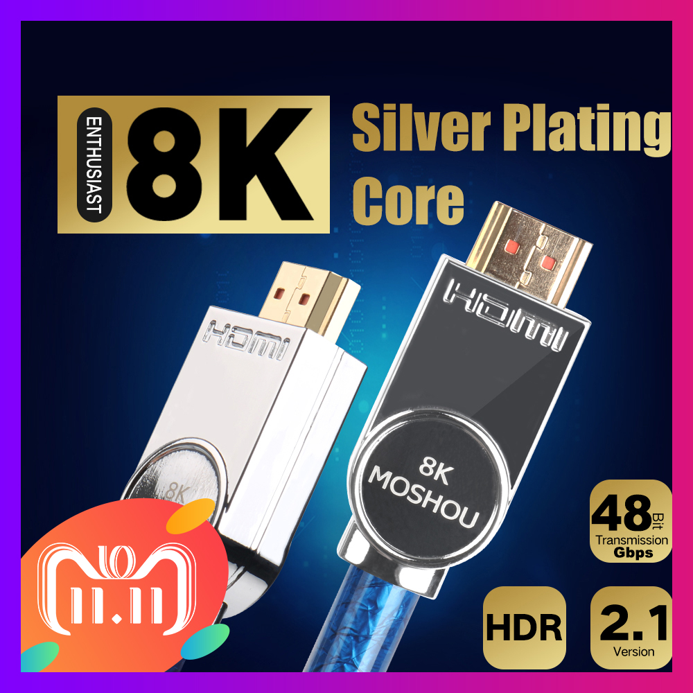MOSHOU Real HDMI 2.1 Cable Ultra-HD (UHD) 8K HDMI 2.1 Cable 48Gbs with Audio & Ethernet HDMI Cord 1M 2M 5M 10M 15M 20M HDR 4:4:4 1pcs cree xml led xml2 led t6 u2 driver 17mm 20mm 2 7 4 2v 2 2 2a 5 mode led driver for cree xml led emitter