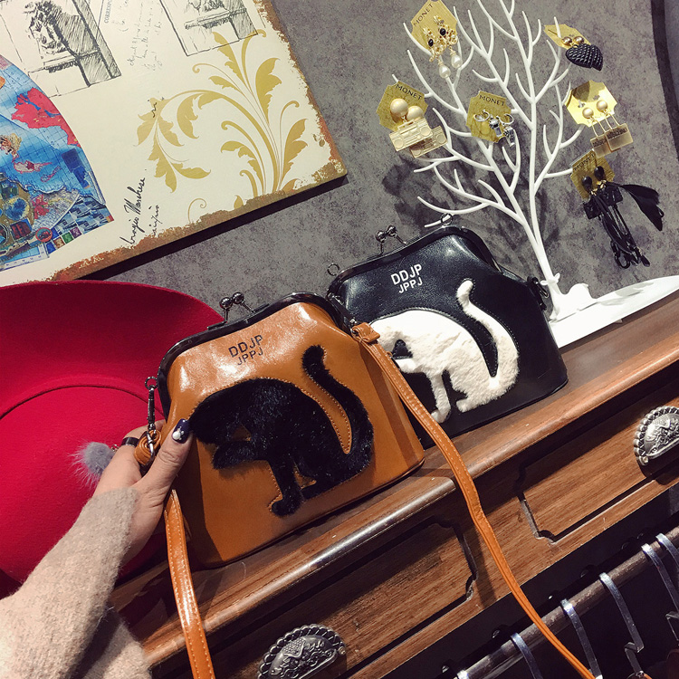 2017 Women Party Bags Cat Bag Ladies Cross Body Bag Women Bags Shoulder & Handbags Messenger Bags Female Leather Shoulder Bags (35)