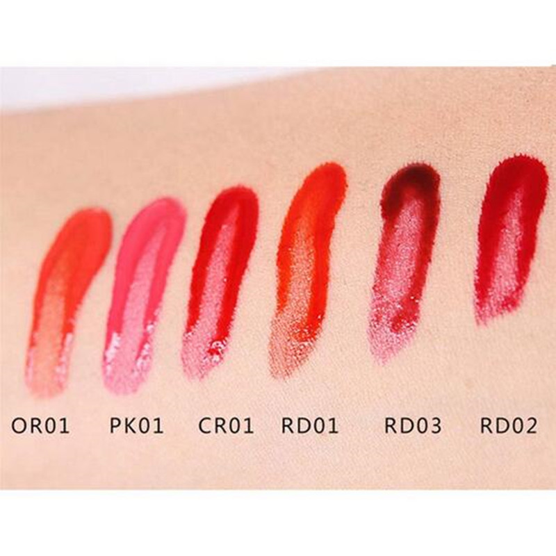 Six Color Easy To Wear Non-stick Stained Matte Gloss Red Wine Bottle Lipstick
