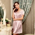 Brand New Women Sleepskirts Nightdress V-Neck Sleepwear Short Sleeve Nightgown Homewear Comfort Sleepshirts Summer Nighties