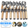 8Pcs 1 2 Inch Round Shank HSS High Speed Twist Drill Bit Set Stainless Steel Coated