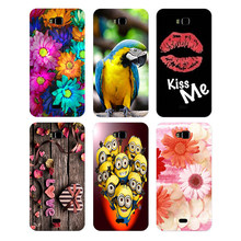 Silicone Case For Huawei Honor Bee y5c y541 y541-u02 Cover Floral Plants Unicorn Printed Back Cover Flamingo Cat Owl Phone Case(China)