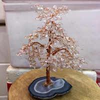 Grande formato di Cristallo naturale chiaro quarzo gemMoney Albero Feng Shui Ricchezza Complementi Arredo Casa Figurine In Miniatura PartyGift
