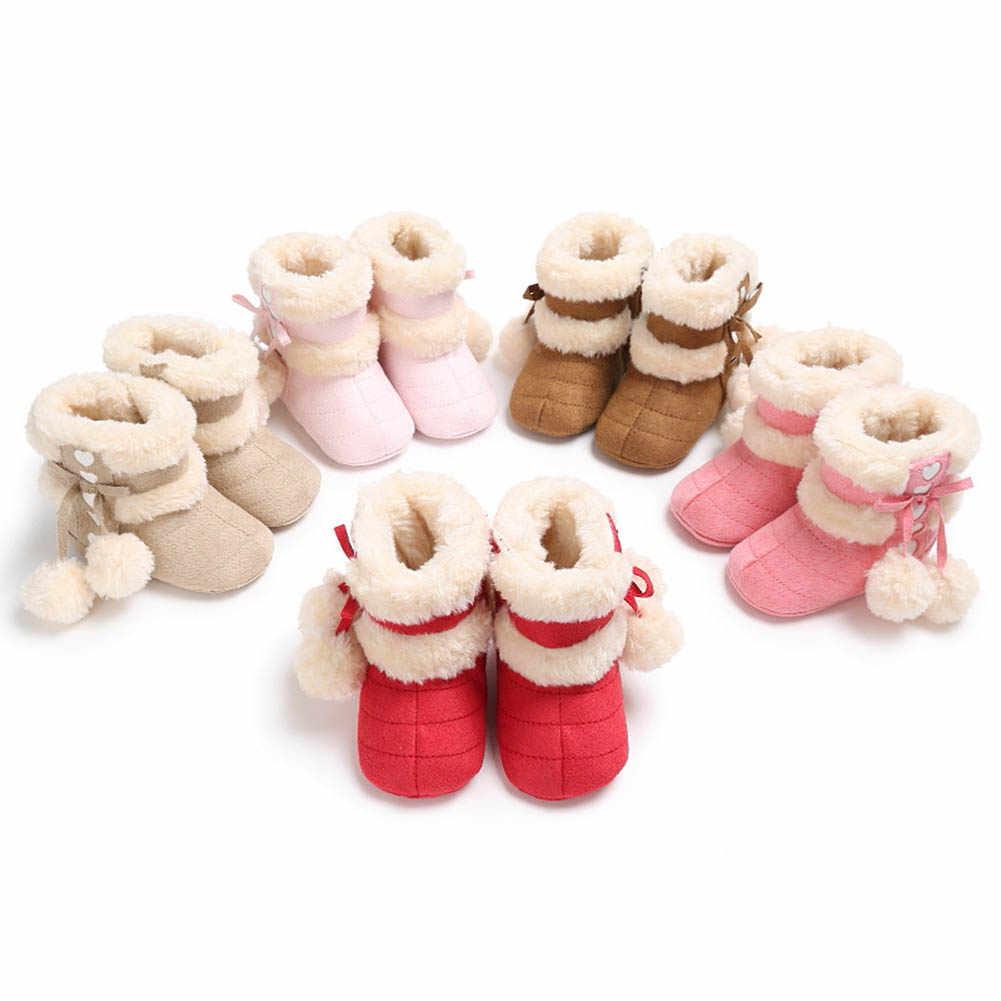 5 màu Bé Gái, Chất Liệu Mềm Mại Boot Trẻ Sơ Sinh Chống Trơn Trượt Ủng Ấm Tuyết Dễ Thương Cho Bé Gái Mùa Đông Giày