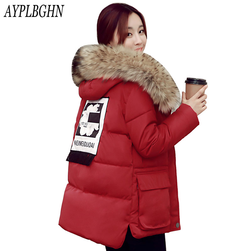 2017 Winter Jacket Women Plus Size 5XL Fashion Cotton Padded Jacket And Coats fur Collar Female Outwear with hooded high quality 2017 new women winter long jacket female fur collar hooded parka cotton padded coats fashion thick jacket plus size outwear