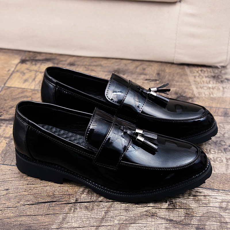 ADBOOV Patent Leather Shoes Men Tassel Penny Loafers Black Casual Shoes  Fashion Man Moccasin Party Shoes-in Men s Casual Shoes from Shoes on  Aliexpress.com ... 8fcfff98efd3