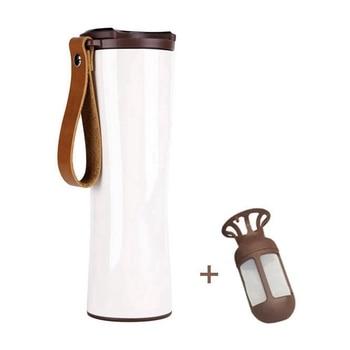 Smart Kopje Koffie Reizen Mok Roestvrij Staal Met Led Druk Screen Temperatuur Display 430Ml Draagbare