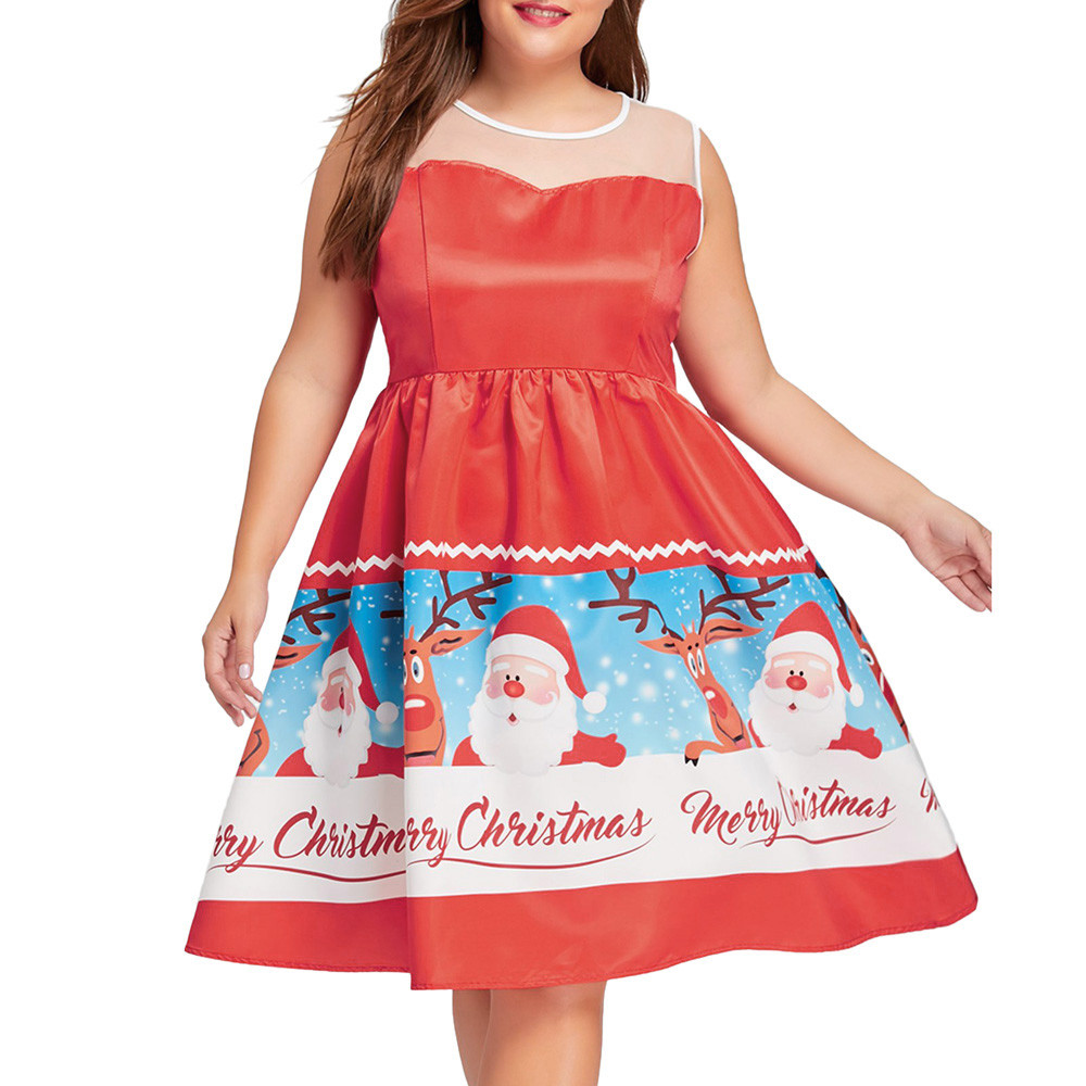 Christmas Ball Gowns Plus Size.Youyedian 5xl Plus Size Christmas Dress Women Print Floral