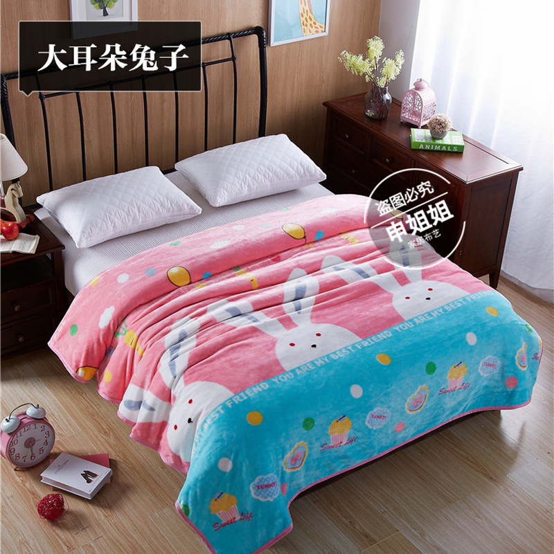 New hot cashmere cashmere blanket brand into children spring and summer thick warm blanket Super soft coral wool blanket in bed