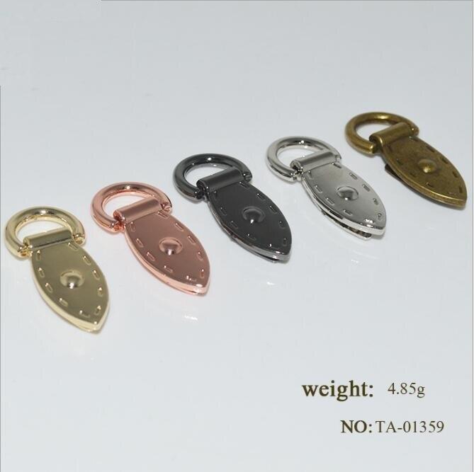 (10 PCS/lot) Manufacturers Wholesale Handbags Metal Accessories Leaf Shape Shoulder Strap Chain Link Decorative Buckle