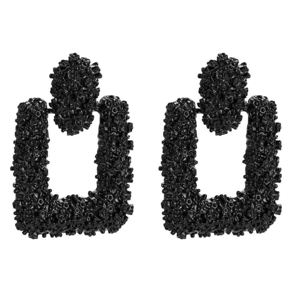 KMVEXO 8 kolorów Heavy Metal Punk styl proste geometryczne komunikat kolczyk osobowość moda spadek kolczyki kobiety biżuteria wisząca
