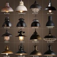 Lámpara de techo Edison Vintage de Metal rústico luces Retro sombra de brillo lámpara para colgar lámpara Industrial lámparas de iluminación