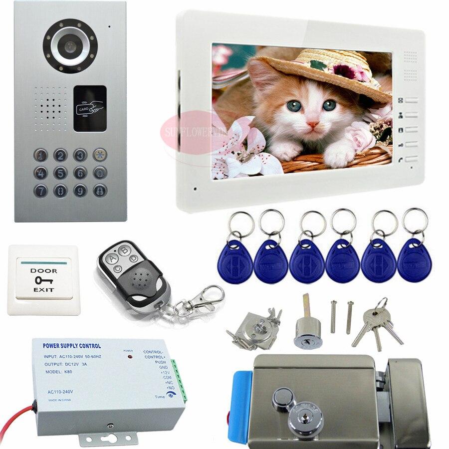 intercom rfid door video camera remote control video doorbell electric door lock video intercom home