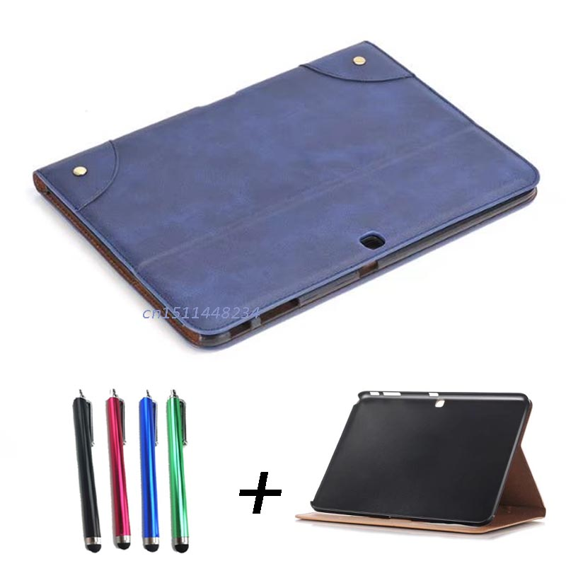 for samsung galaxy Tab 4 10.1 SM-T530 T531 T535 Tablet smart cover, New Retro Business case for samsung galaxy Tab 4 10.1 inch pu leather tablet case cover for samsung galaxy tab 4 10 1 sm t531 t530 t531 t535 luxury stand case protective shell 10 1 inch