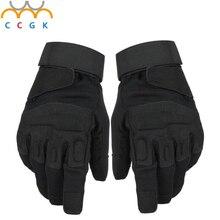 2017 Nuevos hombres Al Aire Libre Guantes de Hombre guantes Llenos del dedo Guantes de Seguridad de la policía Militar Del Ejército Táctico Antideslizante de Cuero guantes