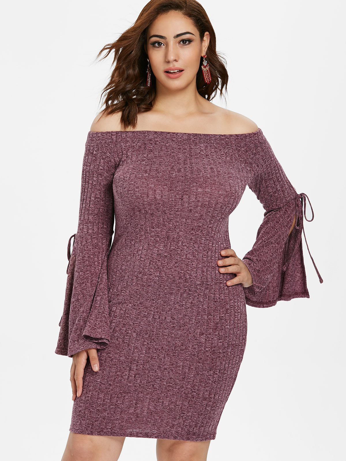 Winter bodycon plus size dresses 36 long jeans made spandex