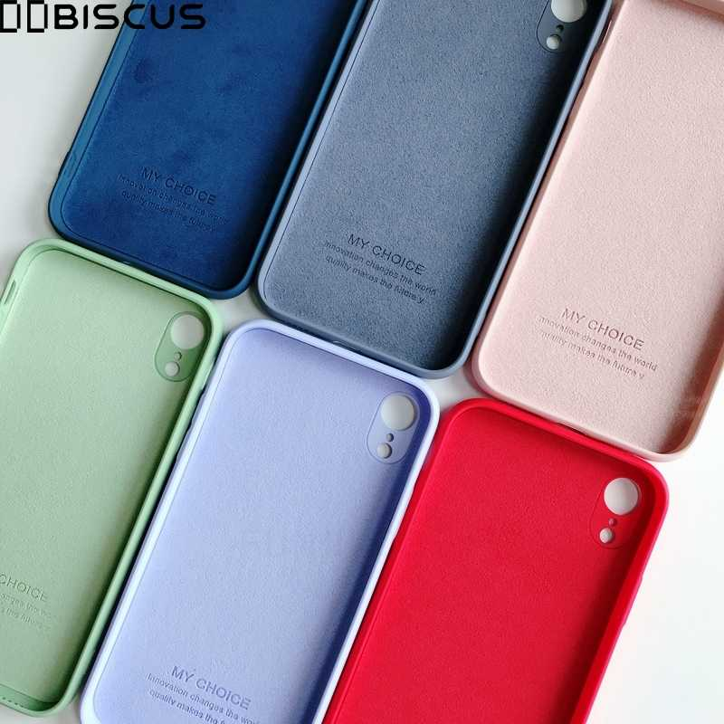 Cases For iPhone 7 8 6 6S Original Liquid Silicone Case Plain Color Bumper Cover For iPhone 8 7 6 6S Plus X XS Max XR Coque Capa