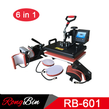 6 in 1 Combo Heat Press Machine T shirts Digital Swing Heat Transfer Machine Sublimation Machine for Mug Hat Plate Phone Case