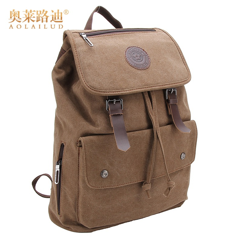 AOLAILUD Brand Fashion Travel Large Capacity Backpack Male Luggage Shoulder Bag Computer Backpacking Men Functional Versatile Ba canvas style leather travel large capacity backpack male luggage shoulder bag computer backpacking men functional versatile bags
