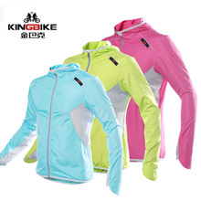 KINGBIKE Cycling Jacket With hood Men Women Windproof Bike Jersey Long Sleeve Bicycle Rain Jacket Outdoor Sport Wind Coat Jacket