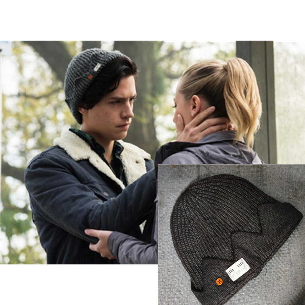 New Jughead Jones Riverdale Cosplay Winter Warm Beanie Hat Topic Exclusive Crown Knitted Cap Knit Hat