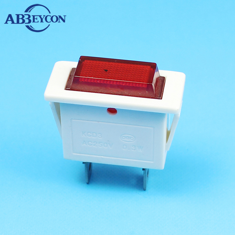 ABBEYCON rectangular indicator lamp white housing indicator light 2pin pilot light