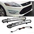 Acessórios automotivos Para 2011 2012 2013 Ford MONDEO 2x LED DRL Condução Daytime Running Day Fog Lâmpada Luz