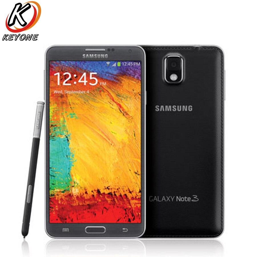 Versione AT & T Samsung Galaxy Note 3 N900A Cellulare 5.7 pollice 3 GB di RAM 32 GB ROM Quad Core 3200 mAh 13.0MP Android Smart telefono