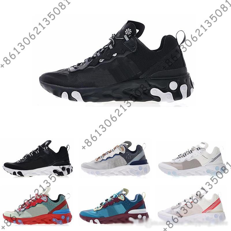 2018 New arrival React Element 87 Mens Designer Running Shoes trainers Sports Sneakers Women Luxury Brand casual shoe size 36 45