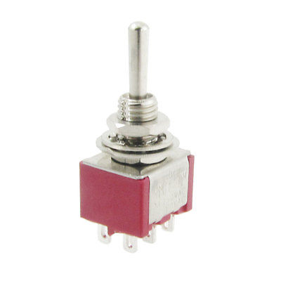 Fast Deliver 2a/250v 5a/120v Momentary On/off/on 2p2t Dpdt 6 Solder Pins Toggle Switch Superior Performance Home Appliances