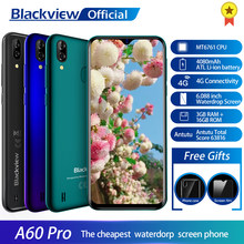 Blackview A60 Pro Smartphone MTK6761 Quad Core Android 9,0 4080mAh Handy 3GB + 16GB Waterdrop Bildschirm Gesicht ID 4G Handy(China)