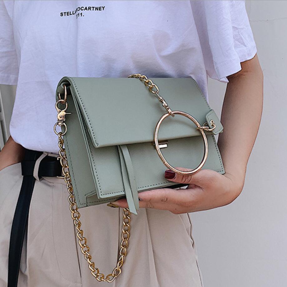 Luxury Brand Female Flap Square Bag 2020 New Quality Leather Women's Designer Handbag Travel Shoulder Messenger Bag Bolsos Mujer