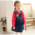 2016 New Baby Girls Dress Cute Cat Girls Denim Dresses Summer Girls Suspender Dress for 3-7Years
