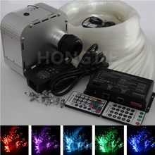 32W RGB 28key RF remote TWINKLE LED Fiber Optic Star Ceiling Light Kit 600pcs*0.75mm*4m +shooting stars effect(China)