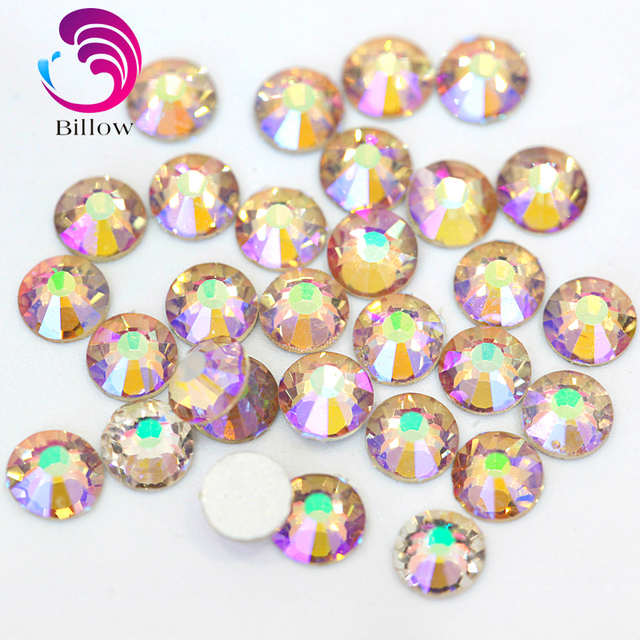 47c6333c41 US $2.91 45% OFF|2028 SS3 SS30 Transparent Amethysty Glass Non Hotfix  Rhinestone Flatback Non Hot Fix Crystal Glitter Strass for Nail Art  B3423-in ...