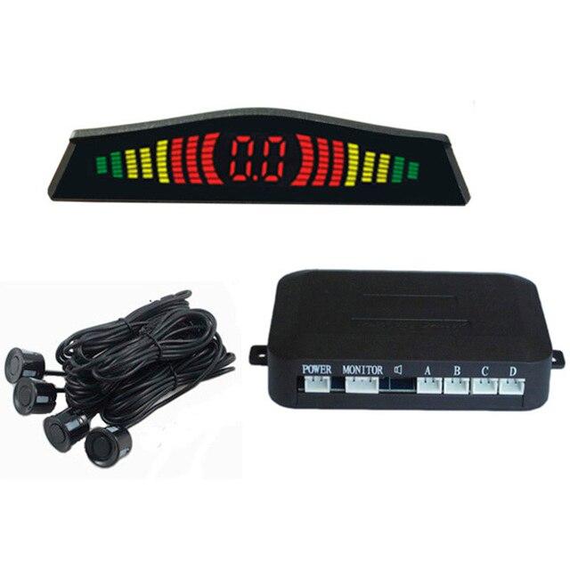 Авто Парктроник Системы Светодиодный Дисплей Датчики Парковки Для Автомобилей Реверсивный Радар С 4 Датчиками 6 Цветов Датчик Парковки Автомобилей