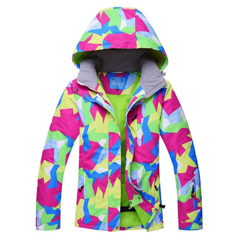 2018 Women Ski Jacket Snowboard Jacket Thermal Clothing Windproof Waterproof Jacket Super Warm Skiing Snowboard Wear Sport Coat burton titan snowboard jacket canteen youth