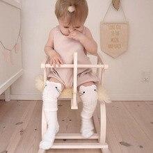 Лидер продаж; гольфы для новорожденных; носки для маленьких мальчиков и девочек; нескользящие теплые носки с милым котиком и S-M; 3 цвета