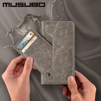 Musubo New Luxury Leather Case For IPhone 7 Plus Wallet Cover With Card Slot Holder For