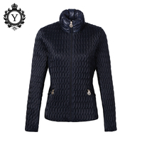 COUTUDI New Arrival Women Down Jacket 2016 Parkas Dark Blue Winter Stylish Jackets Polyester Windbreaker Women