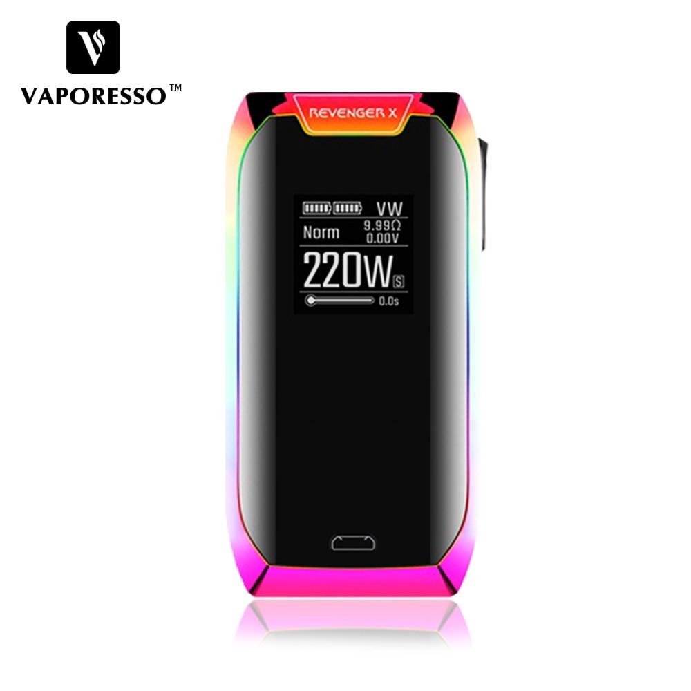 D'origine Vaporesso 220 w Vengeur X Boîte Vaporisateur MOD fit NRG Réservoir NRG Mini Réservoir utiliser GT Bobine avec Tactile écran pour Cadeau De Noël