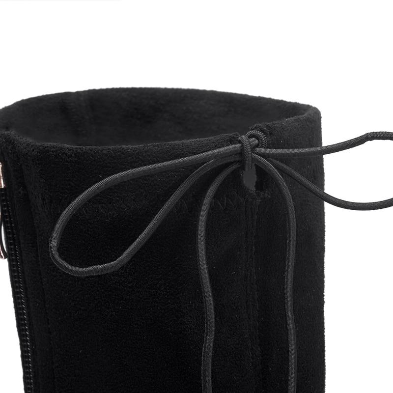 Genou Lacets Noir grey Tissu À Haute Gris Femmes Bottes Stretch Pour G414 Black Univers Talons eH2DIYbWE9